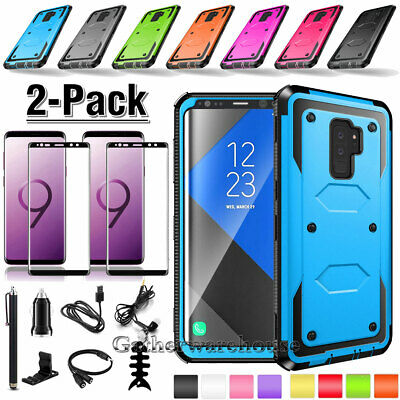 Case + Full Cover Tempered Glass Screen Protector For Samsung Galaxy S9/S8/Plus