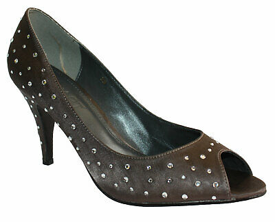 APART DAMEN SANDALEN Peep Toe Pumps Leder ♥ mit Strass in