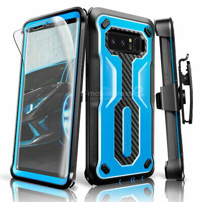 premium selection 2b095 2617c FOR SAMSUNG GALAXY Note 8 Armor Case With Kickstand Belt Clip + Screen  Protector