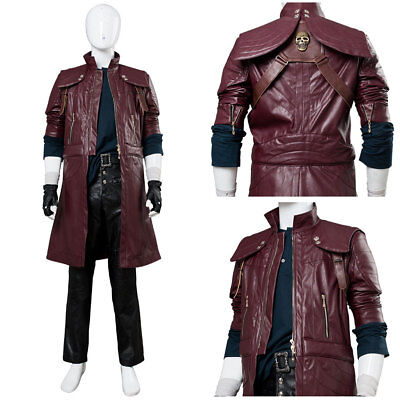 DMC5 Devil May Cry V Dante Aged Costume Cosplay Halloween Coat Outfit Full Set