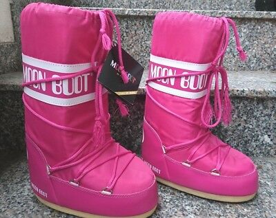 b8c2156adc5776 Schneestiefel Moon Boot Tecnica 35 38 NYLON bouganville pink extra warm NEU  HOT