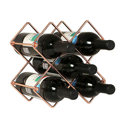 Metal 6 Bottle Countertop Wine Holder Free Standing Rack Stand for Wine Hot