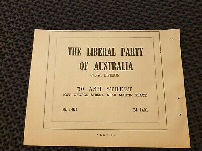 Liberal Party of Australia (NSW Division) - 1954 Advertisement