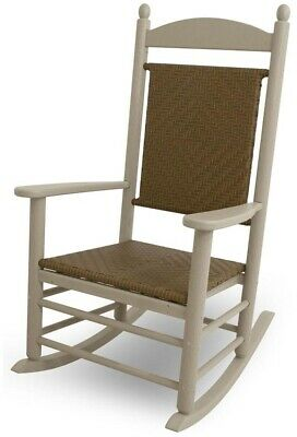 Groovy Polywood K147 Jefferson Outdoor Woven Rocking Chair All Pdpeps Interior Chair Design Pdpepsorg