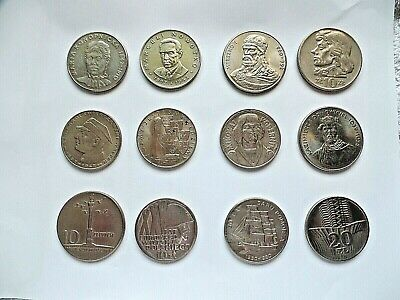 Poland 12 Vintage Commemorative Coins 10 Zloty to 50 Zloty