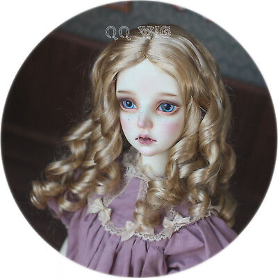 SIZE   7 GEORGIA WIG  MOHAIR SYNTHETIC  ASH BLONDE  MODERN ANTIQUE DOLL