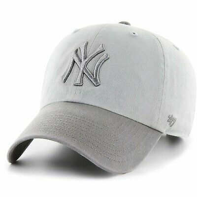 47 Brand Relaxed Fit Cap - CLEAN UP New York Yankees gris