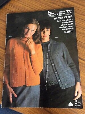 Vintage Patons Knitting Book - 722