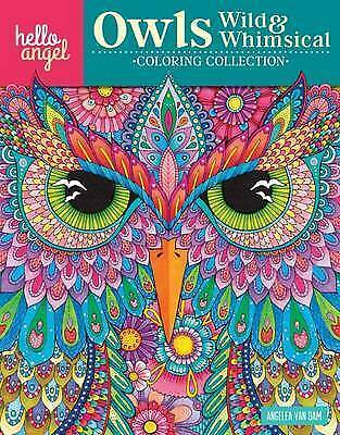 Inspirational Adult Colouring Book: Owls Stress-Relief Self-Reflection Insomnia