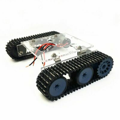 Acrylic Tank Robot Chassis DC9-12V Tracked DIY Vehicle Arduino Accessory