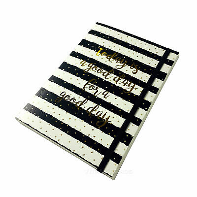 Bullet Journal A5 Lux Black Hard Cover Notebook Ivory Pages Grid Dots Sketch Pad