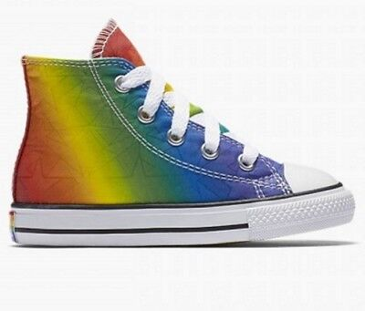 b698c33a79dc Converse Chuck Taylor All Star Pride Infant Size 2 Gay Rainbow Limited  Edition