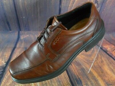 ad0806208ee ECCO Shoes Men s Oxfords Brown Leather Dress Casual Comfort Helsinki 9.5M