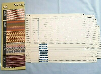 Pc200 Toyota Knitting Machine Rare 12 Stitch Punch Card Set 811-820 With Card