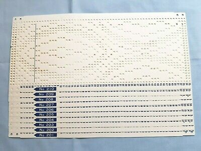 Pc201 Toyota Knitting Machine Rare Punch Card Set 201-210 Fair Isle Set Of 10