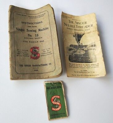 Singer Sewing Machine collectable books & papers