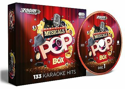 Zoom Karaoke Musicals Pop Box Party Pack 6 Disc CD + G New Sealed