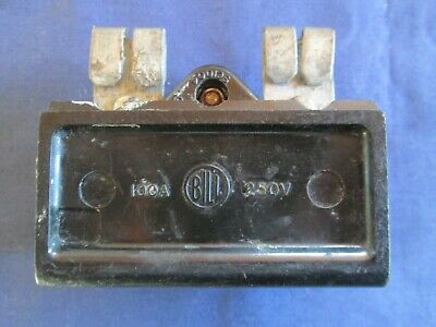 BILL 100 AMP BS1361 TYPE SC1004 SERVICE FUSE CARRIER Fitted with 100 A Fuse
