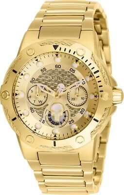 Invicta 26988 Marvel Women's Day-Date 24H 39mm Gold-Tone Punisher Watch