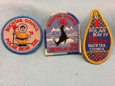 Boy Scouts -  assorted Bucktail Council Polar Bear patches x 3