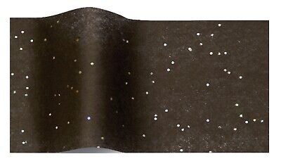 BLACK GEMSTONE WRAPPING TISSUE PAPER SHEETS ~ LUXURY SPARKLY GLITTER GEM 50x75cm