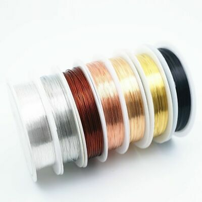 Colorfast Silver Copper Wire For Bracelet Necklace Jewelry DIY 0.2-1.0mm Craft