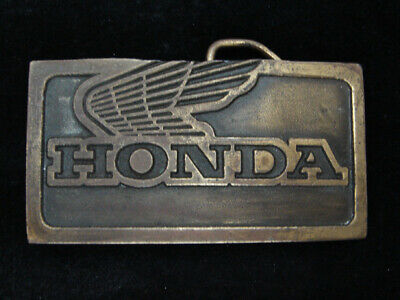 RB05144 VINTAGE 1970s **HONDA** MOTORCYCLES ADVERTISEMENT BELT BUCKLE