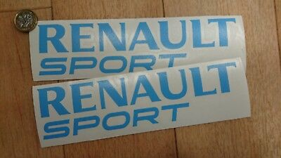 2 x Renault Sport Side Skirt Car BLUE (200mm) Decals/Stickers/Graphics  V2