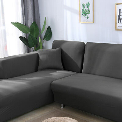 UNIVERSAL STRETCH ELASTIC Fabric Sofa Cover Sectional Corner Couch Covers