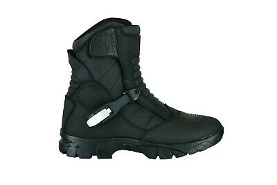 Motorcycle Raxid Black Storm Adventure Waterproof Boots Touring Real Leather100%
