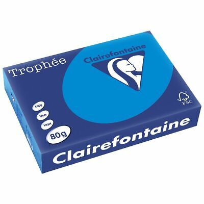 Trophee 80gsm Tinted A4 Copy Paper Ream Intensive Blue