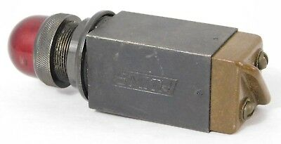 Vintage Smith Red Aircraft Indicator Light S-73907-REV-6 117-V.A.C. TYPE B-27A