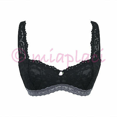 ac6d1ed6f8 NWOT FREE PEOPLE Demi Balconette Lace Soft Bra Black Small (34 ...