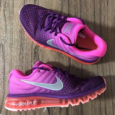 buy online e07b7 269f2 A789G Nike Womens Air Max 2017 Bright Grape Fire Pink 849560-502 Size 5 NEW