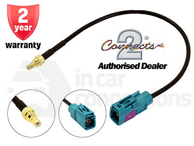 Fakra Female to SMB Male CT27AA149 In car radio aerial adapter cable lead DAB