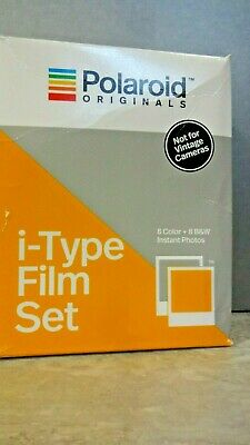 Polaroid Originals i-Type 2 Pack Film Set, 1 Color and 1 B&W (RS542)