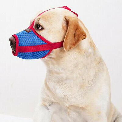 Pet Dog Adjustable Mask Anti Bark Bite Mesh Soft Mouth Muzzle Grooming Chew G