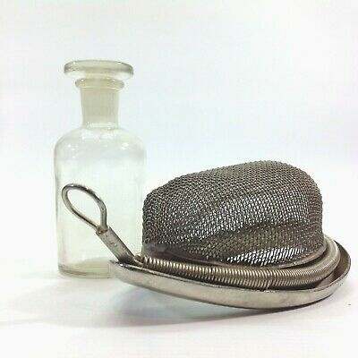 Antique / Vintage Medical / Surgical Ether Mask & Bottle