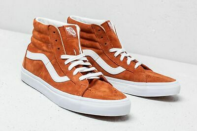 reputable site 4ad40 9b81c Vans SK8 Hi Reissue Pig Suede Leather Brown Men s Skate Shoes Size 9