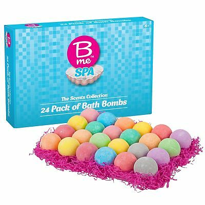 Spa Bath Bombs Gift Set of 24 Colorful Individually Wrapped 80g Bath Fizzies