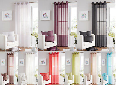 Swiss Voile Curtain Eyelet/Ring Top Single Panel Curtain Door Panel Curtain