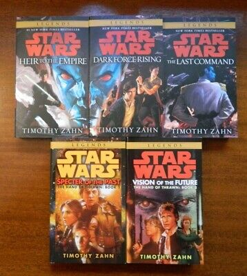 Star Wars Thrawn Trilogy w/new cover painting + Hand of Thrawn Duology 5 books