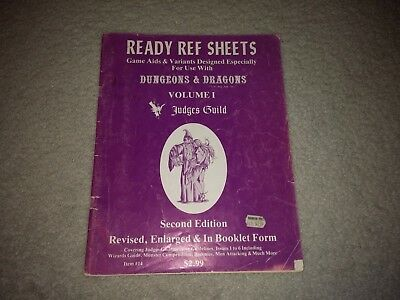 Ready Ref Sheets Volume I - Judges Guild DUNGEONS AND DRAGONS Item #14 1979