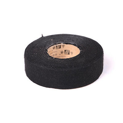 25mmx15m Black Adhesive Cloth Fabric Tape Cable Looms Wiring Harness Ou