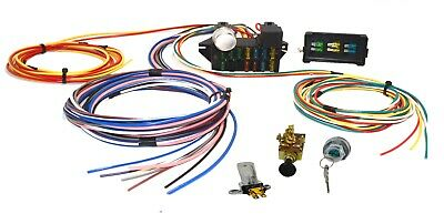 Universal 12 Circuit Wiring Harness Hot Rod Street Rod Muscle Car with SWITCHES