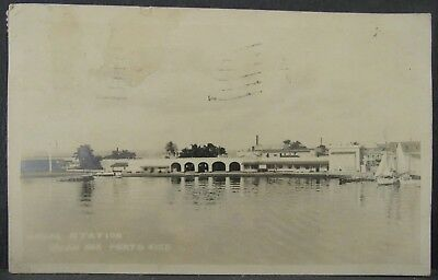1923 Posted US Naval Station SAN JUAN, PUERTO RICO Real Photo PC