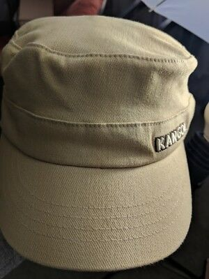 753f2e854a4 Authentic Mens KANGOL Army 9720BC Flexfit Cotton Twill Cap Hat L XL Beige  Flexfi