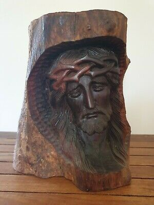 Religious Hand Carved Wood Carving of Jesus