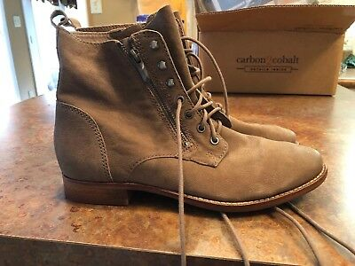 095cb1f13b5531 Sam Edelman Size 8 Taupe Brown Ankle Chukka Side Zip Lace Up Engineer Style  Boot
