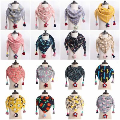 Winter Kids Triangle Warm Autumn Scarves Plaid Dot Shawl Scarf Wraps Cotton Baby